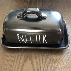 RAE DUNN Black BUTTER Dish